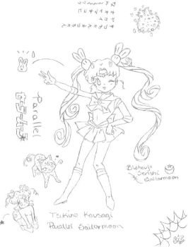 Parallel Sailormoon anime by pageusagiband