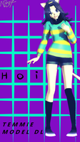 ||MMD Undertale|| Human Temmie [Model Download] by NightmareBear17
