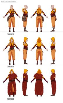 Lhamo Costume Design - Final Turnaround by acrazymind
