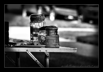 Glass containers by MichelleMarie