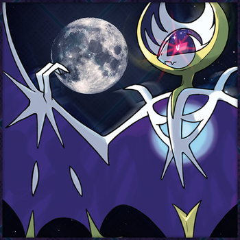 Pokemon Sun and Moon: Lunala Icon by Pheonixmaster1