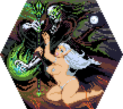 DARK FANTASY PIXELART COLLABORATION HEX NO5 X4 by TRUEvector