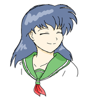 Kagome's Smile by colorful-emotions