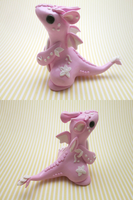 Light Pink Floral Dragon by KriannaCrafts