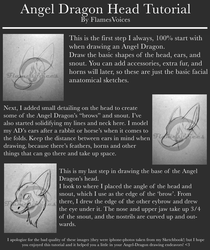 Angel Dragon Head Tutorial by FlamesVoices