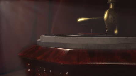 Final Render CG Antique Gramophone 04 by BethsFienneArt