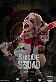 Poster Suicide Squad - Harley Quinn by CCG-ARTS