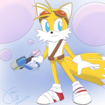 Tails's bubble blaster by jkalsop