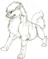 Real arcanine sketch by Keira-B-Wolf