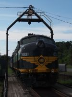 ERIE 833 on the Turntable at Port Jervis 1 by TheMightyQuinn