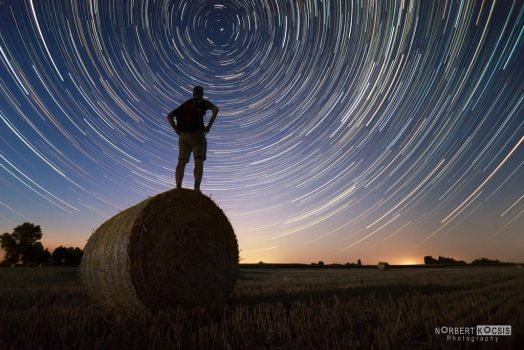 One and a half hour startrail by NorbertKocsis