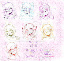 Aesthetic YCH // Open *unlimited slots* by Chocomisuu