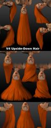 Upside-Down Hair for Daz's V4 by parrotdolphin
