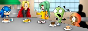 The Lunch Table by super-sawnyc128