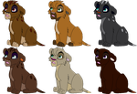 Lion Adoptables April 3 - Open - 2 left by Shade1193