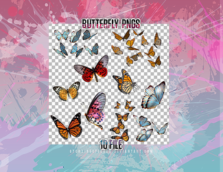 +Butterfly Png Pack by btchdirectioner