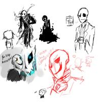 Bunch of Gaster Sketch by ms-wabbit