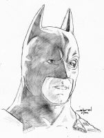 Batman pencil portrait by StevenWilcox