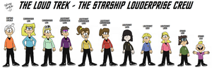 Starship Louderprise Group Picture - The Loud Trek by FromEquestria2LA