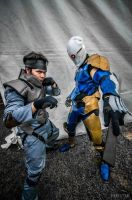 Metal Gear solid [Grayfox and snake] cosplay by VH by Villageshope
