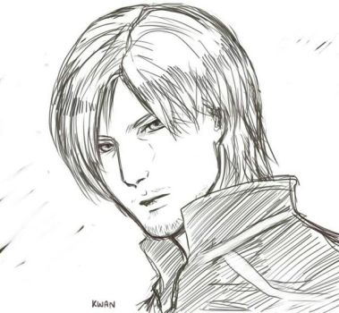 Super rough sketch of Leon by tandty321