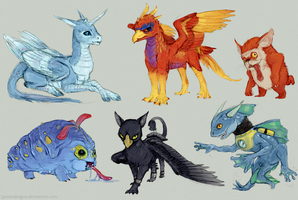 Sketch - Skylanders by Iguanodragon