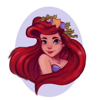 Little Mermaid [coloring book] by Dreachie