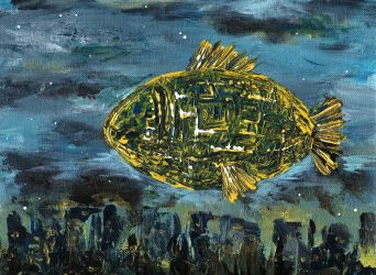The fish above the city by stelle