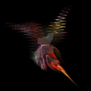 Fractal Bird of Paradise by agnomination