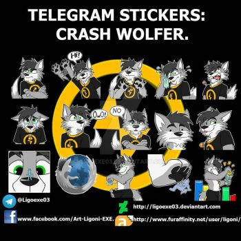 Stickers Telegram: Crash Wolfer (Commission) by Ligoexe03