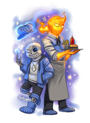 Undertale AU - Time!Duo by Tanita-sama
