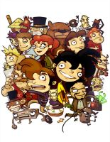 Penny Arcade Characters by michaelfirman
