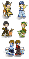 pokemon chibis by Lady-of-Link