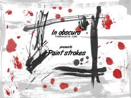 Paint strokes and splatter by jackie-daniels