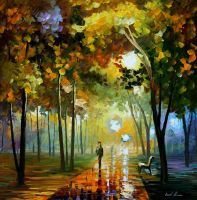 October reflections by Leonid Afremov by Leonidafremov