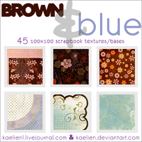 Textures Brown + Blue 100x100 by kaelien