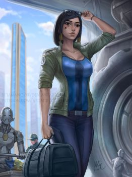 Pharah - Overwatch's return by Sciamano240