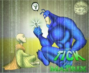 The Tick vs the Matrix by What-the-Gaff