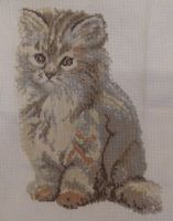 Fluffy Kitten Cross Stitch by canadiankazz