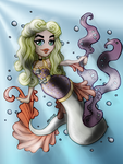 50s Color Themed Mermaid by ninjassinwolf
