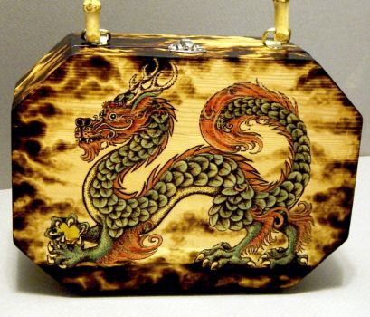 Chinese Dragon Purse Front by CozmicDreamer