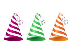 3-party-hats-with-ribbon-curls by superawesomevectors