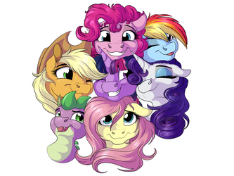 Mane Group Cuddle by LupiArts
