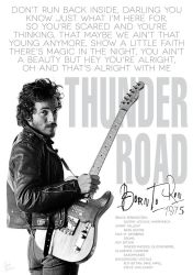Bruce Springsteen Thunder road poster by DanieleBenedetti