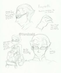Fate/Zero ''Cor Mutatio'' Kayneth concept drafts by Yoru-the-Rogue