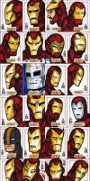 IRON MAN sketch cards - 3 of 3 by grantgoboom