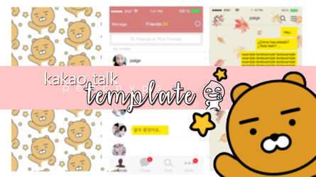 Kakaotalktemplate by peachyps
