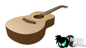 3d Classic Guitar by MarKAnime
