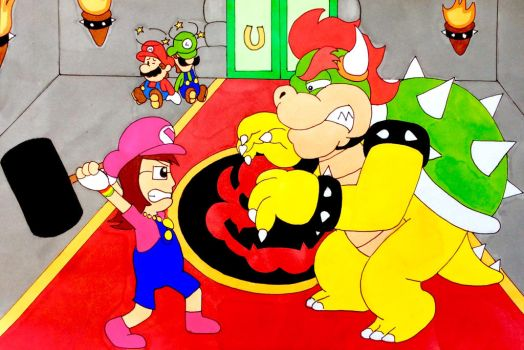 Bowser vs Vi by Iwatchcartoons715