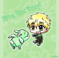 APH: Flying Mint Bunny by niirasri